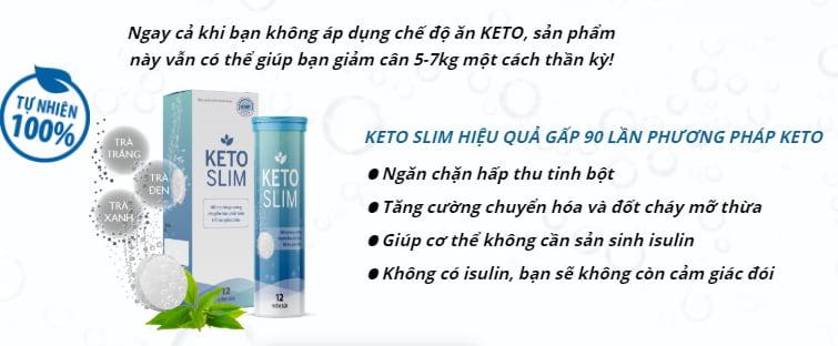 công dụng viên sủi Keto Slim
