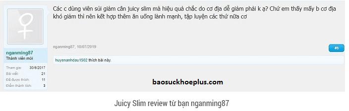viên sủi giảm cân Juicy Slim webtretho review
