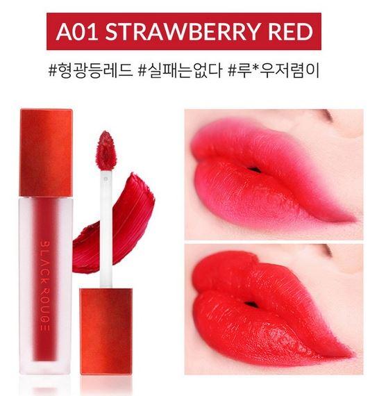 Black Rouge Air Fit Velvet Tint A01