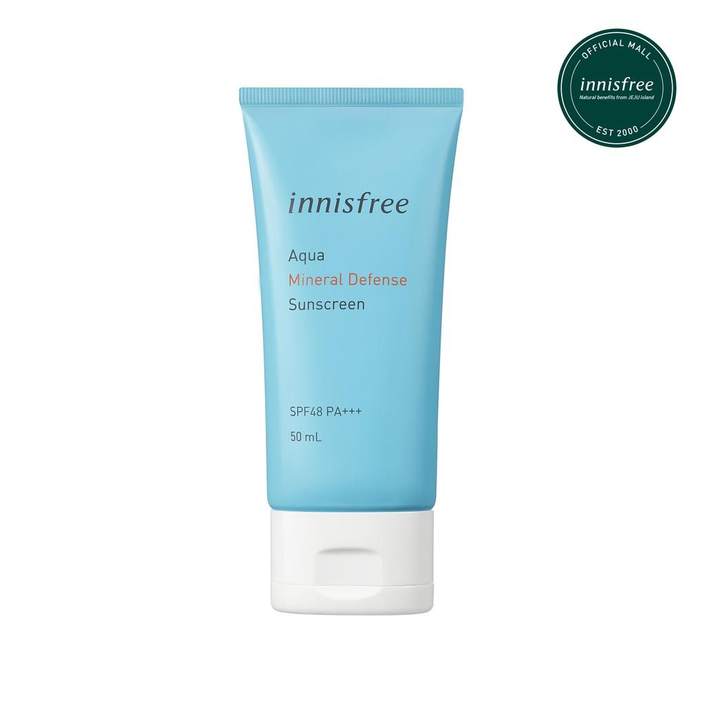 Innisfree Aqua Mineral Defense Sunscreen SPF48PA+++ 50ml